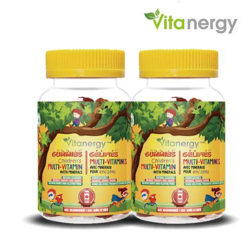 加拿大维生能 儿童多种维生素矿物质软糖 60粒*2瓶